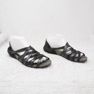 28d48700506 Ahnu Shoes - Ahnu Maia Black Huarache Style Strappy Sandals 8